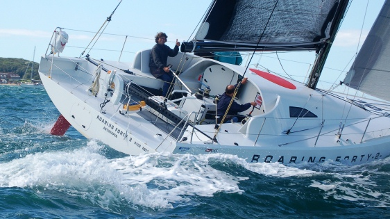 Michel Kleinjans and his GOR crew are leading the Fastnet Class40's with Roaring Forty 2